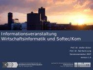 Lehrinhalte des Softec-Lehrstuhls - Lehrstuhl für ...