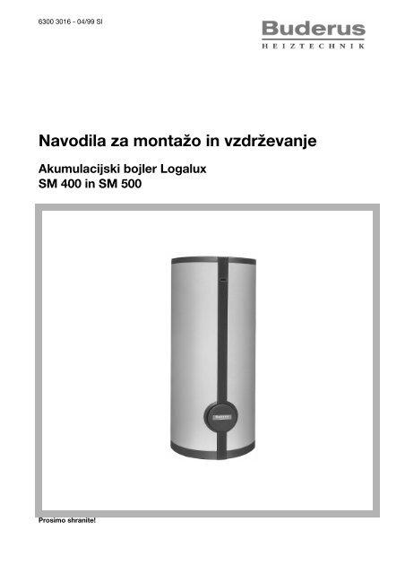 Navodila Logalux SM400l, SM500l - Buderus