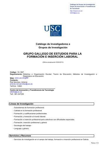 grupo gallego de estudios para la formación e inserción laboral