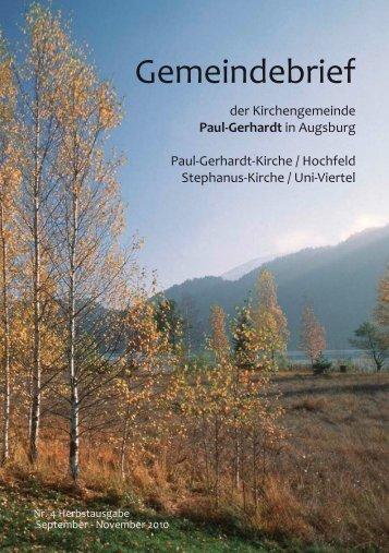 Gemeindebrief - Paul-Gerhardt Augsburg