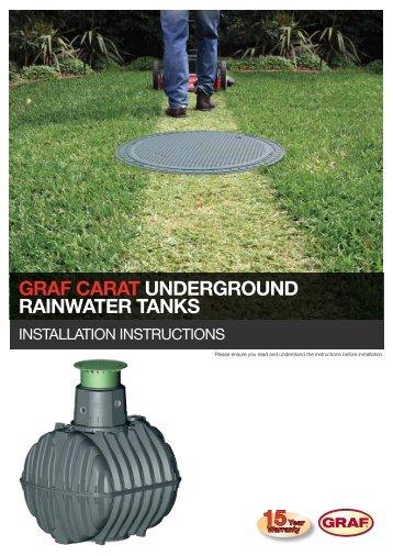 Graf Carat Underground Rainwater Tanks | Installation ... - Reece