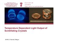 Temperature dependent light output of scintillating crystals