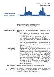 Info-Blatt 09, 07 März 2010 - Kirchengemeinde St. Marien und St ...