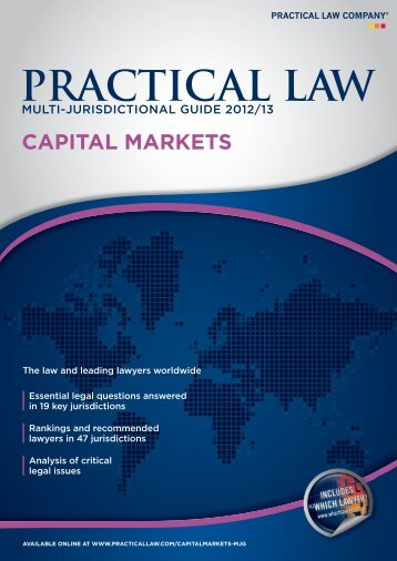 PRACTICAL LAW - Walder Wyss Ltd.
