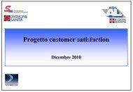 progetto di customer satisfaction asl al 2010
