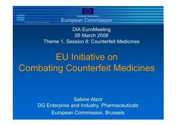 EU Initiative on Combating Counterfeit Medicines