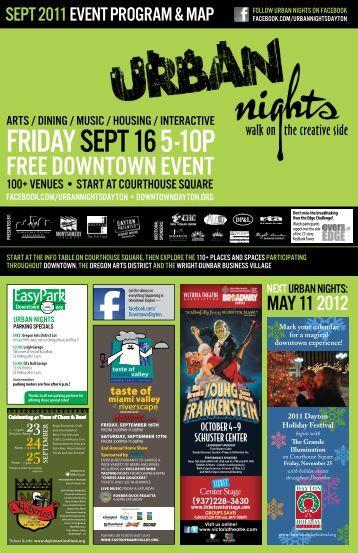 Urban Nights Event Program & Map - Downtown Dayton Partnership