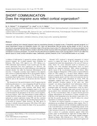 SHORT COMMUNICATION Does the migraine aura reflect cortical ...