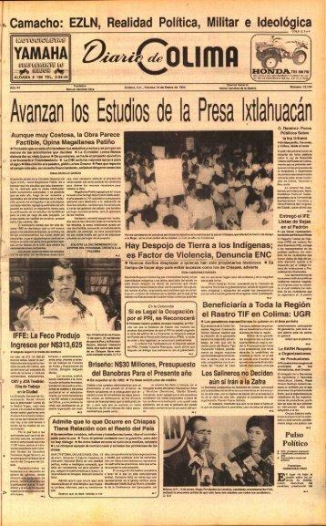 Ava :an los Estudios . de la Presa Ixtlahuacán - Universidad de Colima