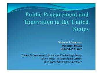 presentation - Understanding Public Procurement of Innovation ...