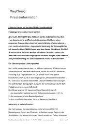 Pressebericht (PDF) - WestWood