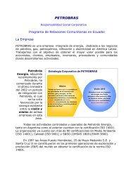 Programa de Relaciones Comunitarias en Ecuador. - Consejo ...