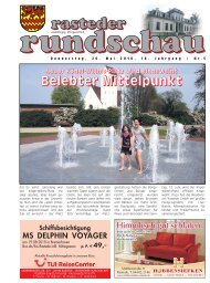 rasteder rundschau, Ausgabe Mai 2010
