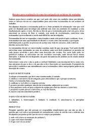 Roteiro para investigação de acidentes do trabalho. - AreaSeg