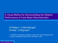 view presentation - ImPACT CT Scanner Evaluation Centre