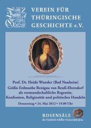 Prof. Dr. Heide Wunder - Verein für Thüringische Geschichte