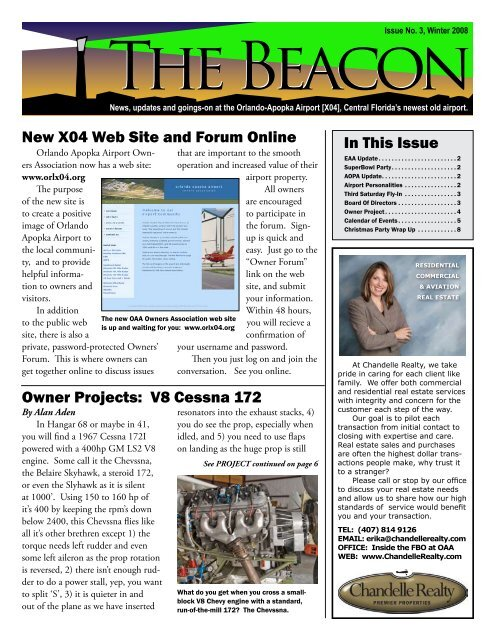 New X04 Web Site and Forum Online In This Issue Owner Projects ...