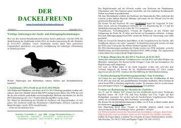 Der Dackelfreund - Nr. 4/2011 - Teckelklub Wiesbaden/ Mainz
