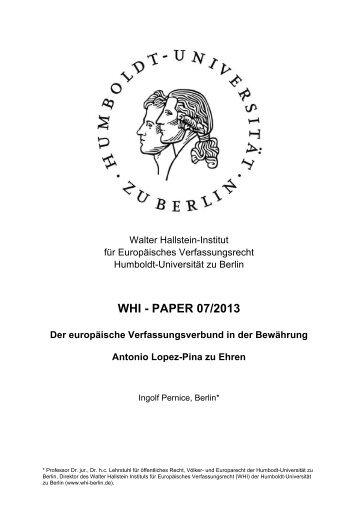 WHI - PAPER 07/2013 Der europäische ... - WHI-Berlin