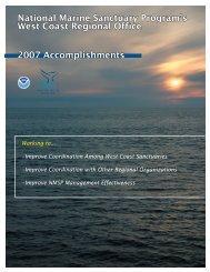 2008 Accomplishment Report - National Marine Sanctuaries - NOAA