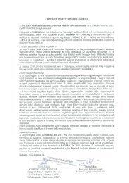DALERD Délalföldi Erdészeti Zrt. - Magyar Fejlesztési Bank Zrt.