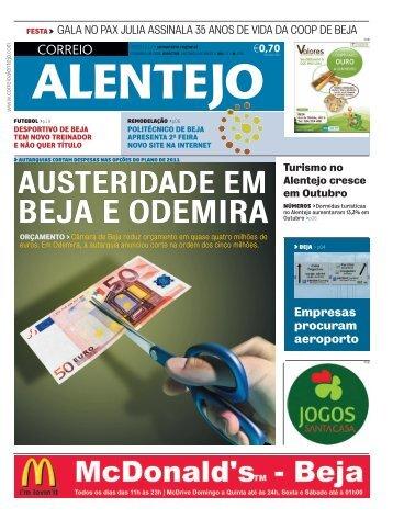 BEJA E ODEMIRA - Correio Alentejo