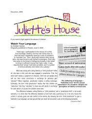 Watch Your Language - Juliette's House