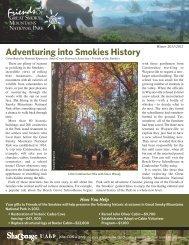 Adventuring into Smokies History - Friends of the Smokies