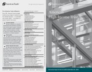 Semi-annual report American High-Income Trust - American Funds