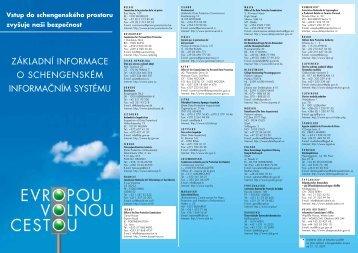 základní informace o schengenském informačním ... - Euroskop.cz