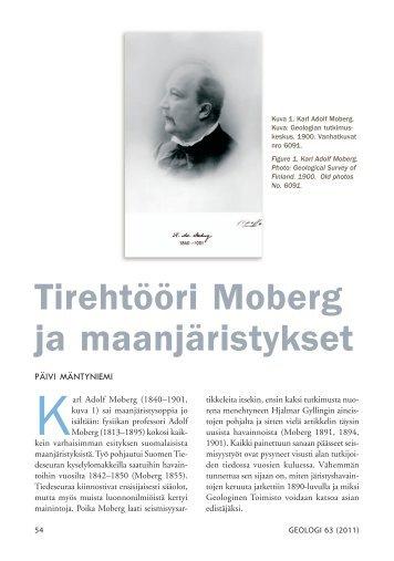Tirehtööri Moberg ja maanjäristykset - Suomen Geologinen Seura