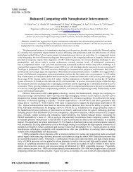 Balanced Computing with Nanophotonic Interconnects - Next ...