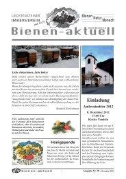 Bienen-aktuell Nr. 70.indd - Liechtensteiner Imkerverein