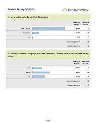 Student Survey 3-5 2013 - Barron Park elementary School