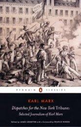Marx - Dispatches for the New York Tribune