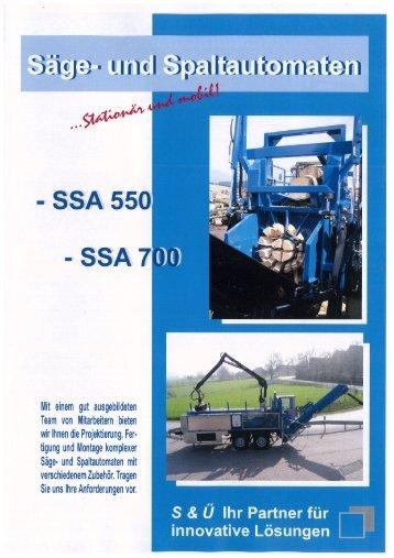 Prospekt SSA 01.2011.pdf - S&Ü Hydraulik und Maschinenbau GmbH