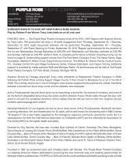 Press Release - The Purple Rose Theatre Company
