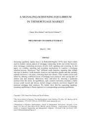 a signaling-screening equlibrium in themortgage market - eres.scix.net