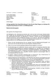 Anfrage Medienentwicklungsplan - SPD Siegen