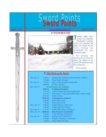† SNOWBOUND! † This Week at St. Paul's - St. Paul's Parish