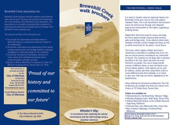Brown Hill Creek Walk Brochure - City of Mitcham - SA.Gov.au