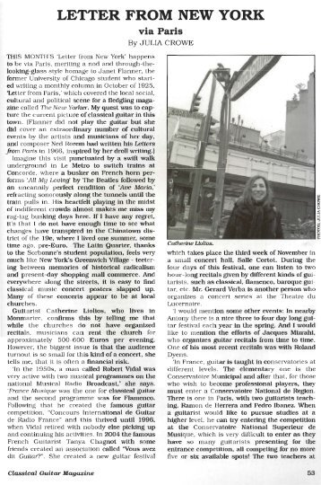 LETTER FROM NEW YORK - Julia Crowe