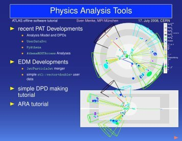 Physics Analysis Tools Developments