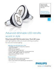 Advanced dimmable LED retrofits accent in style - Philips Lighting