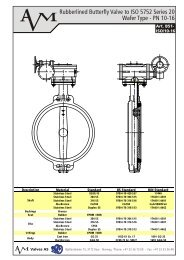 Art B51, Wafer Type Butterfly Valve ISO 5752 Series 20 ... - Avm.no