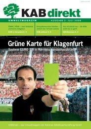 Grüne Karte für Klagenfurt - KAB Kärntner Abfallbewirtschaftung