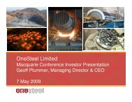Macquarie Conference Investor Presentation May 2009 - OneSteel