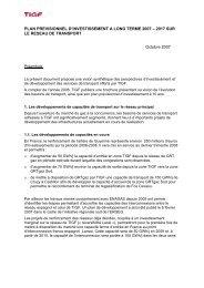 plan previsionnel d'investissement a long terme 2007 – 2017 - Tigf