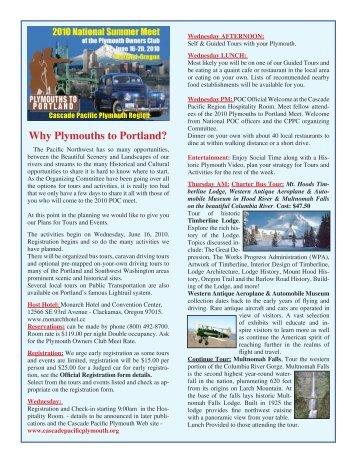 INFORMTION (pdf) - Plymouth Club