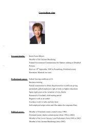 Curriculum vitae - Karin Evers-Meyer